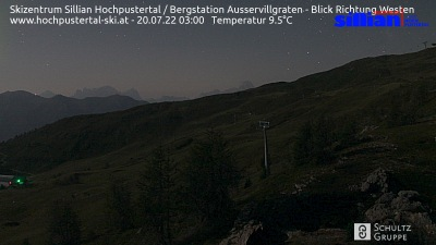 Skizentrum Sillian Hochpustertal / Bergstation Außervillgraten / Blick Richtung Westen
