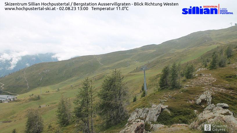 Sesselbahn Außervillgraten - Blick Richtung Karnischer Kamm, Sextner Dolomiten
